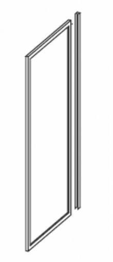 Produktbild: Seitenwand Kunstglas Breite 75 cm x Höhe1850 cm Profile weiss